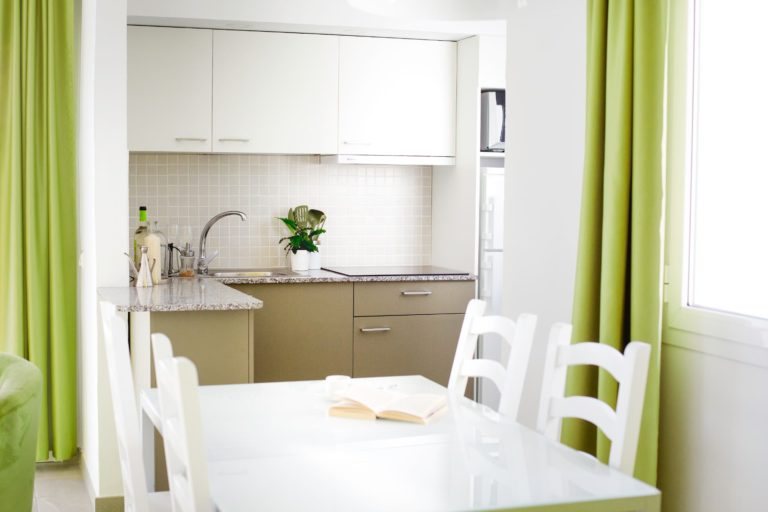 Kitchen area in two bedroom apartment suite
