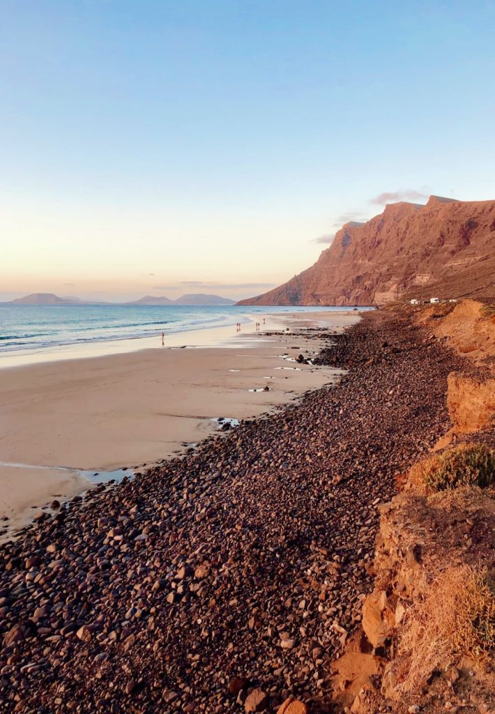 Famara beach in Lanzarote