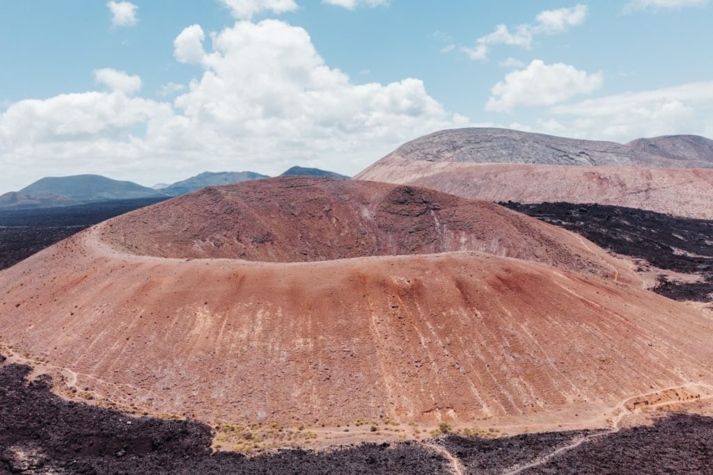 Volcanic formations in Lanzarote