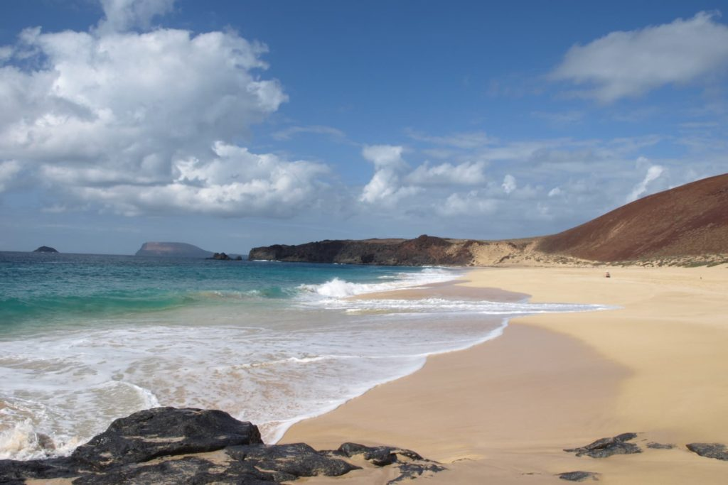 Playa de las Conchas of La Graciosa